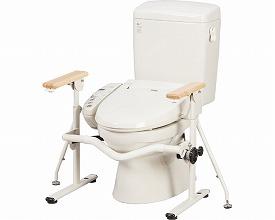 式トイレ用ベストサポート手すり / 627-020 ひじ掛け固定