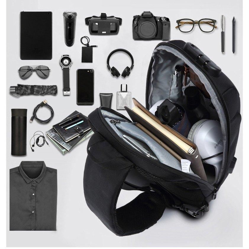 ボディバッグ メンズ かっこいい 大容量 ショルダーバッグ レディース 未使用 キッズ 撥水 海外旅行 アウトドア おしゃれ 軽量 USB 期間限定今なら送料無料 ロック 防水 反射