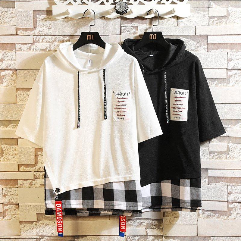 パーカー メンズ プルオーバーパーカー 半袖パーカー パーカ 夏服 現品 フード付き Tシャツ 薄手 公式 カジュアル