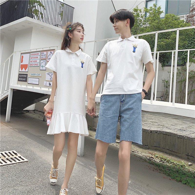 カップル ペアtシャツ 半袖 ペアルック お揃い 服 夏 大好評です 与え オルチャンファッション パンツ おでかけコーデ おそろ デート 花柄