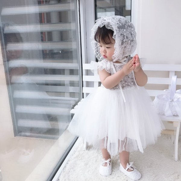結婚式 子供ドレス 退院お祝 お宮参り new お歳暮 出産祝い 格安 価格でご提供いたします かわいい スカート 赤ちゃん 写真撮り 帽子付き 子供服 ベビー服 新生児 女の子 ドレス