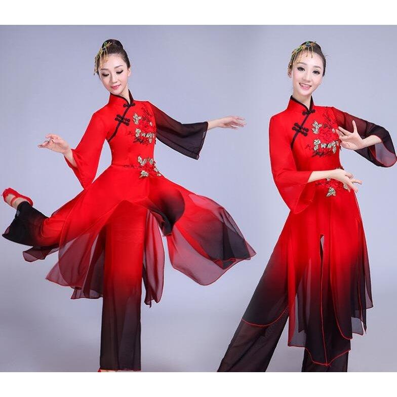 当店一番人気 ダンス衣装 レディース セットアップ 衣装 パンツセット 舞台衣装 ステージ衣装 レッスン着 チャイナボタン 超安い イベント 中国漢唐風 シフォン