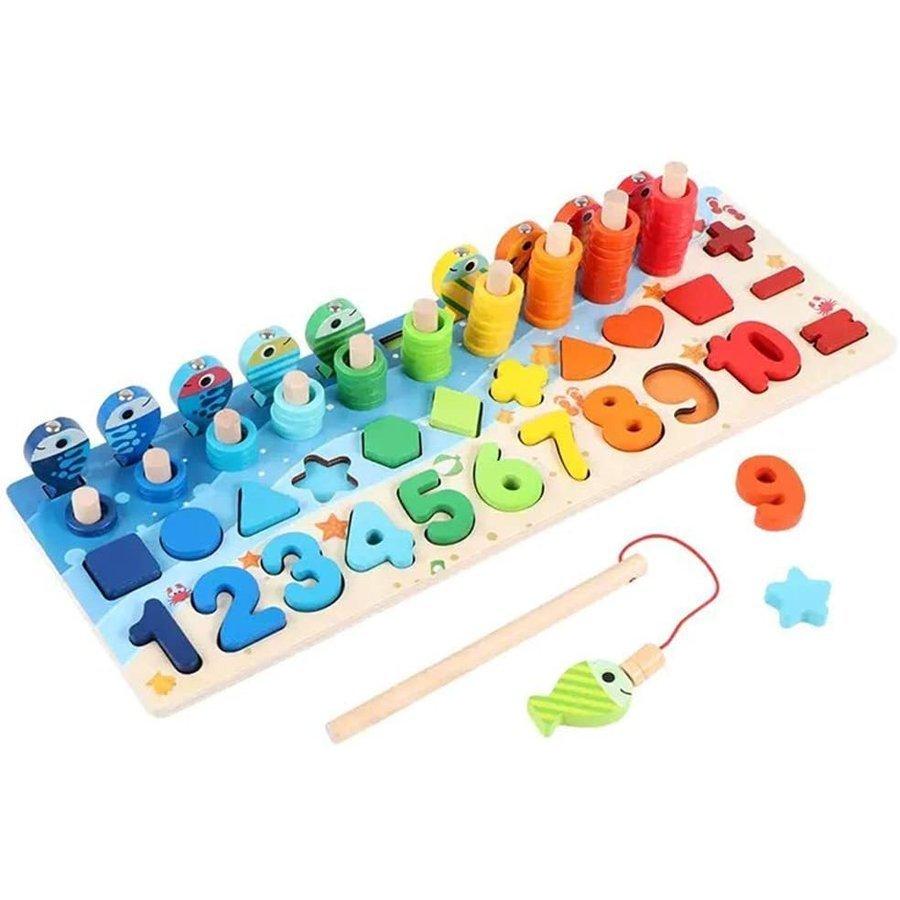 新色追加して再販 数字 評価 積み木 さかなつり 知育玩具 new 子供おもちゃ