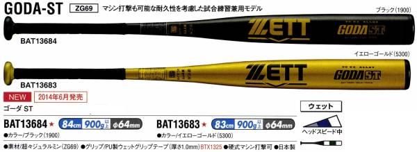 ゼット ZETT 野球 ゴーダST 硬式金属バット ミドルバランス 高校ルール対応 BAT136