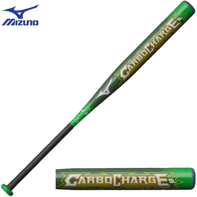 ミズノ ソフトボール カーボンバット 3号 ゴムソフト用 CARBO CHARGE SL カーボン+グラス 1CJFS31084