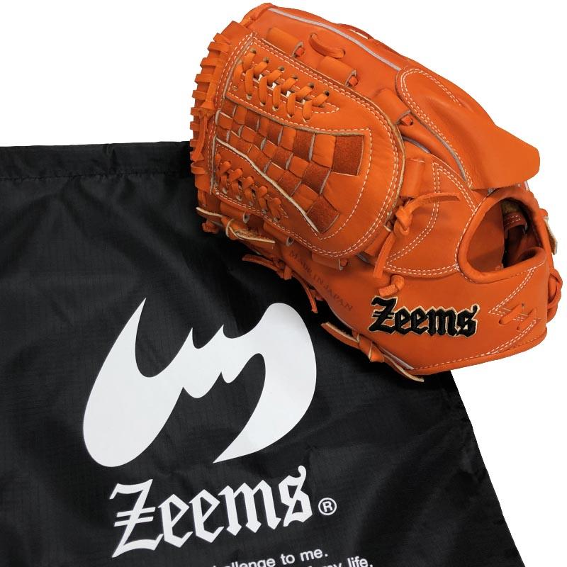 【あす楽対応】左投げ用 ジームス 野球 硬式グラブ グローブ 投手用 高校野球ルール対応 ピッチャー Zeems 三方親αバックスタイル SV517PB-SOR-