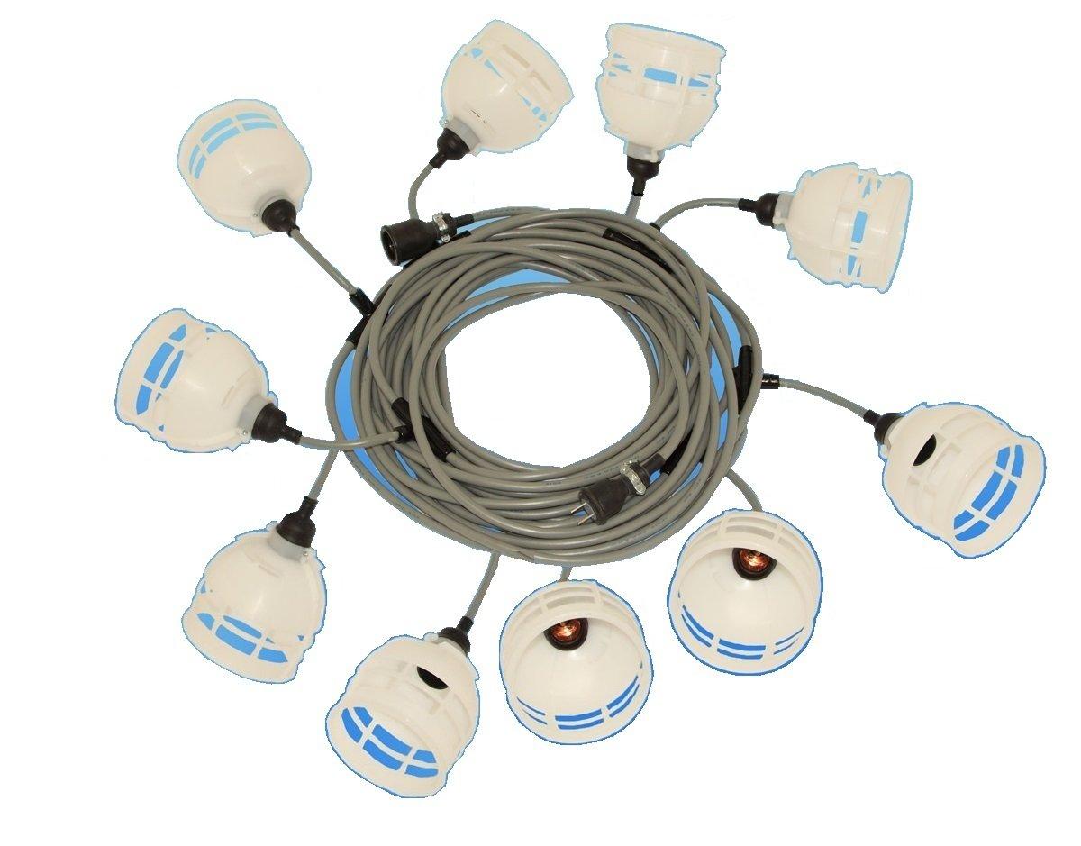 代引き不可!すずらん灯10灯20m白熱電球付スーパー照明 E26タイプ