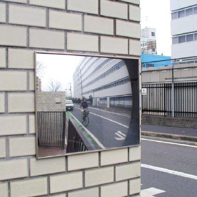 869-98壁用平面ワイドミラー 接着式【代引き不可】