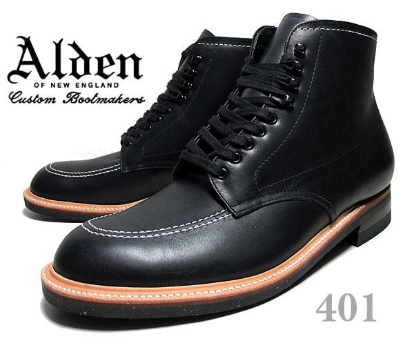 お得な割引クーポン発行中!!【あす楽 対応!!】【送料無料 オールデン インディーブーツ 401】ALDEN Indy Boots Black CHRMXL Leather