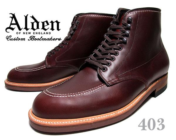 お得な割引クーポン発行中!!【あす楽 対応!!】【送料無料 オールデン インディーブーツ 403】ALDEN Indy Boots DARK BROWN CHRMXL Leather