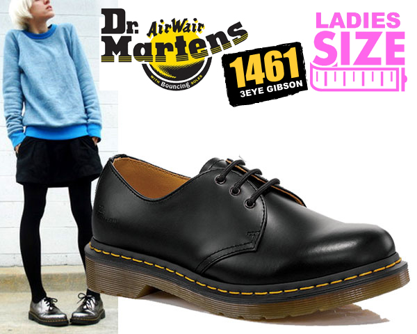 b3fd301235b Among published by advantageous discount coupon! Dr.Martens 1,461W 3EYE  GIBSON BLACK doctor Martin 1461 3EYE SHOE Gibson Lady's shoes