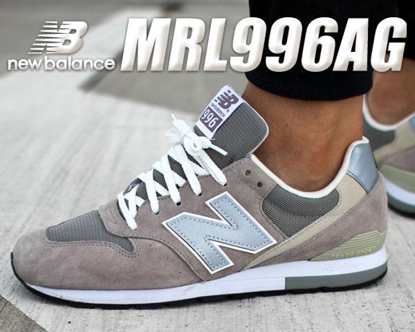 お得な割引クーポン発行中!!【送料無料 ニューバランス 996 グレー】NEW BALANCE MRL996AG