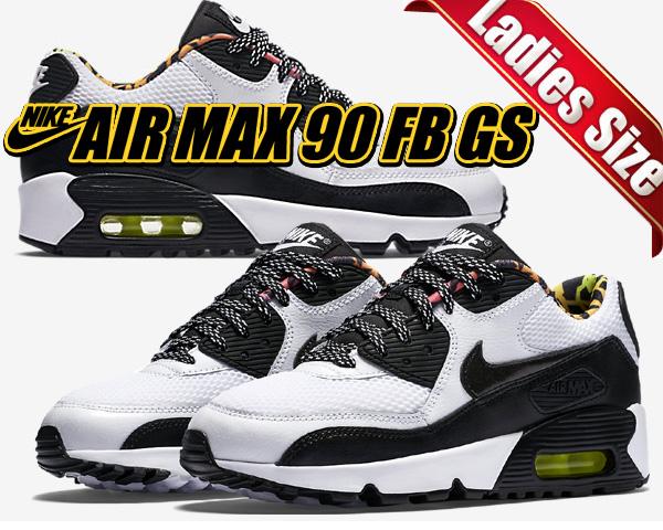 hot sale online a6b5c 1c7bd Among published by advantageous discount coupon! NIKE AIR MAX 90 FB GS  wht/blk-volt-pink.b