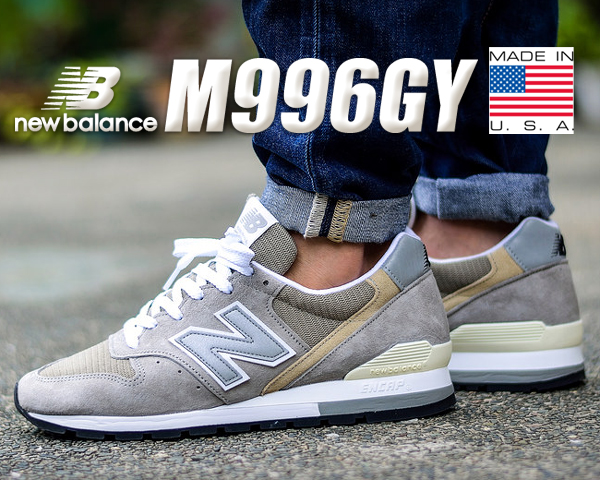 newest collection a7b5e 4aa40 Among Rakuten supermarket SALE ● published by discount coupon advantageous!  NEW BALANCE M996GY MADE IN U.S.A. NB 996 gray sneakers men USA width Wise  ...