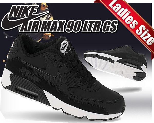 【送料無料 ナイキ エアマックス 90 GS】NIKE AIR MAX 90 LTR GS Black