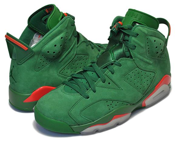 お得な割引クーポン発行中!!【あす楽 対応!!】【送料無料 ナイキ エアジョーダン VI ゲータレード】NIKE AIR JORDAN 6 RETRO NRG G8RD pine green/pine green-vert sapin 【エア ジョーダン GATORADE グリーン AJ 6 BE LIKE MIKE】