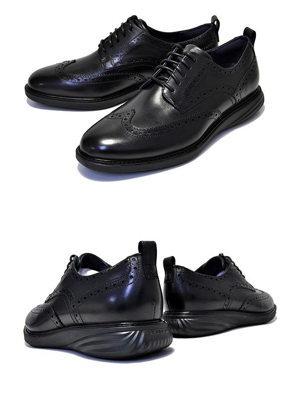 お得な割引クーポン発行中あす楽 対応送料無料 コールハーン COLE HAAN GRANDEVOLUTION SHRTW black blackグランドエボリューション ショートウィング シューズ 靴 革靴 ビジネスシューズ ドレスシューズyNm0w8nvOP