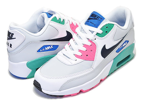 OUTLET NIKE AIR MAX 90 LTR GS whiteobsidian pure platinum Kie Ney AMAX 90 white Lady's 833,412 110