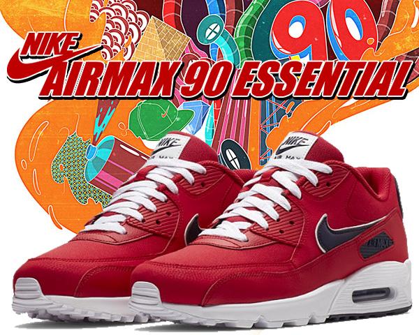 Nike Air Max 90 Essential University Red White Blackened