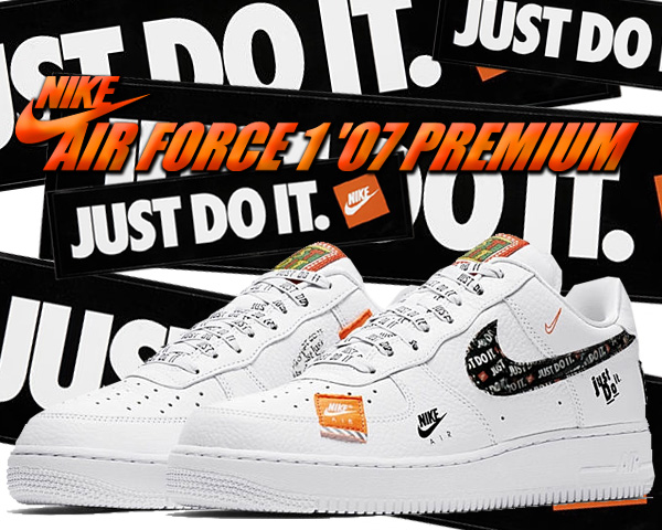 Among published by advantageous discount coupon! NIKE AIR FORCE 1 07 PRM JDI whitewhite black total orange