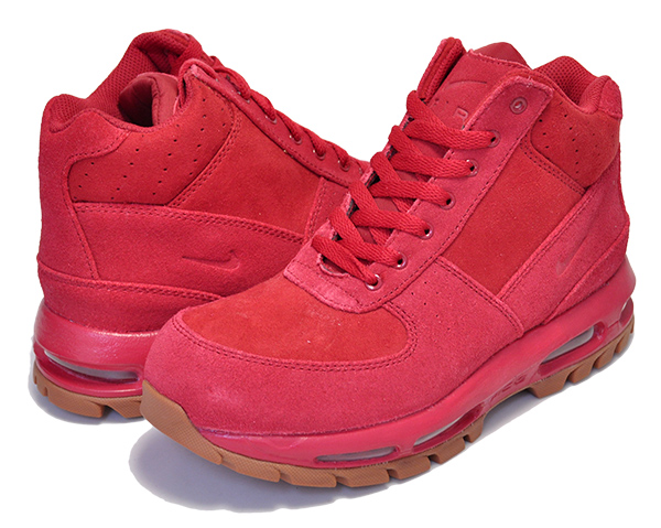 Among published by advantageous discount coupon! NIKE AIR MAX GOADOME(GS) gym redgym red gum med brown ACG Lady's girls size sneakers red suede