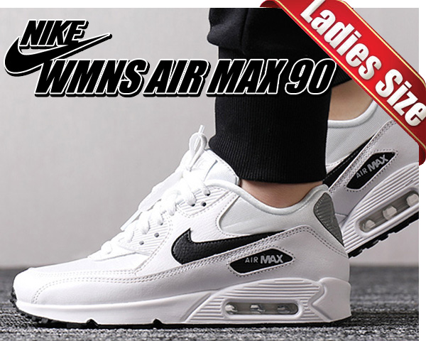 Among published by advantageous discount coupon! NIKE WMNS AIR MAX 90 whiteblack reflect silver Lady's sneakers girls white