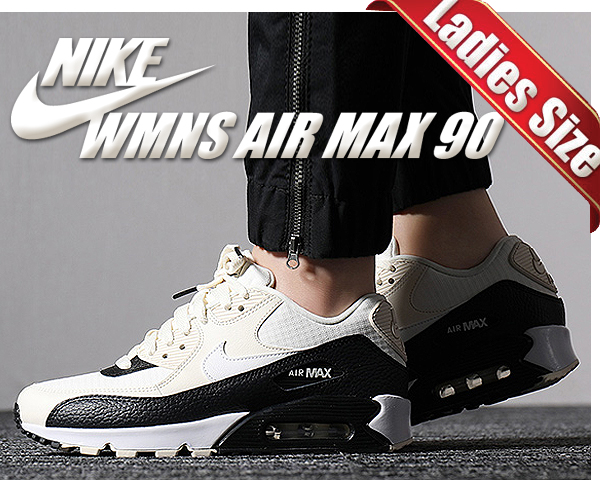 Among published by advantageous discount coupon! NIKE WMNS AIR MAX 90 pale ivorysummit white black 325,213 138 sneakers Lady's girls white black