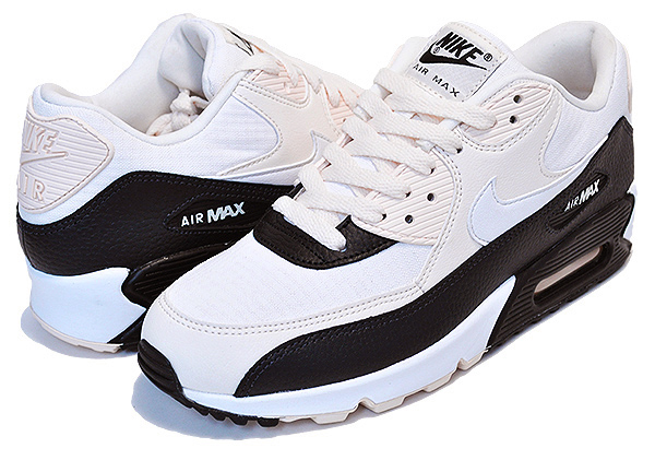 74d4e7b1fdd9 Among published by advantageous discount coupon! NIKE WMNS AIR MAX 90 pale  ivory summit white-black sneakers Lady s girls white black