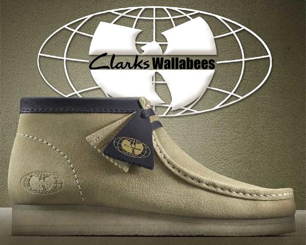 お得な割引クーポン発行中!!【送料無料 クラークス ワラビー ウータン・クラン】CLARKS WALLABEE Wu Tang Clan MAPLE SUEDE 【Wu Wear メープル スエード ブーツ】