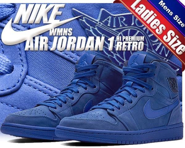Among published by advantageous discount coupon! NIKE WMNS AIR JORDAN 1  RETRO HI PREMIUM blue void/racer blue