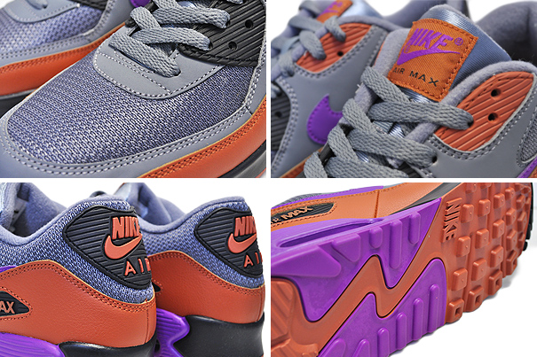 Nike Air Max 90 Essential Cool GreyVivid Purple Men's