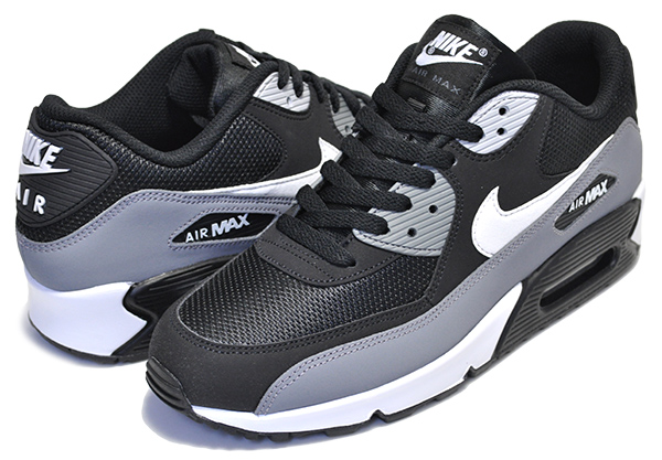 air max 90 essential black and grey