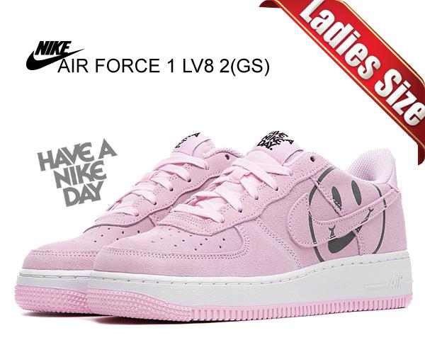 お得な割引クーポン発行中!!【あす楽 対応!!】【送料無料 ナイキ エアフォース 1 ガールズ】NIKE AIR FORCE 1 LV8 2(GS) pink form/pink form-black av0742-600 スニーカー ハブ ア ナイキ デイ ピンク