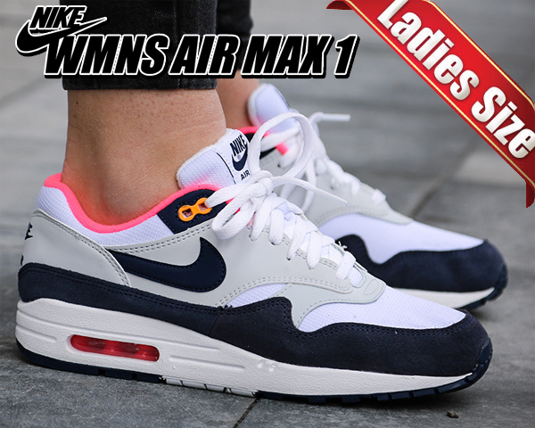 Among published by advantageous discount coupon! NIKE WMNS AIR MAX 1 whitemidnight navy 319,986 116 Lady's sneakers Air Max