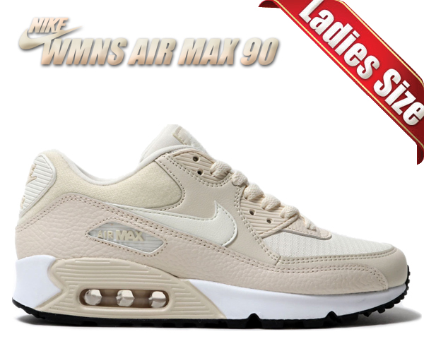 Among published by advantageous discount coupon! NIKE WMNS AIR MAX 90 light creamsail black 325,213 213 sneakers Lady's girls beige