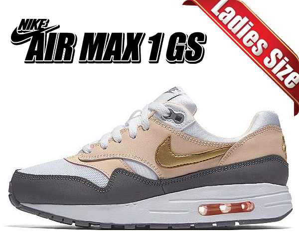 Nike Air Max 1 GS W shoes white pink gold WeAre Shop  WeAre Shop