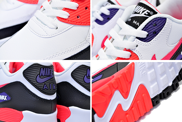 attractive price pretty cheap for whole family Among published by advantageous discount coupon! NIKE AIR MAX 90 LTR (GS)  white/bright crimson-black 833,412-117 sneakers RAPTORS white black purple