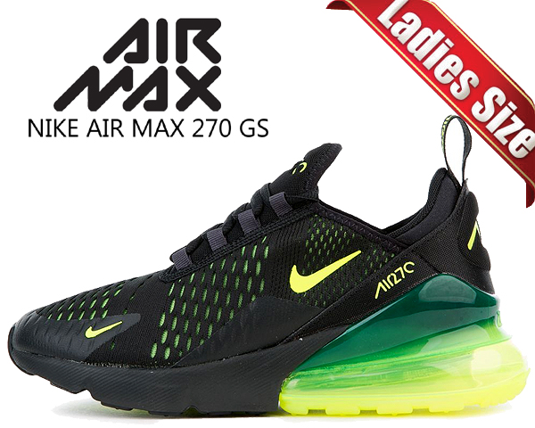 discount shop new images of the best attitude Among published by advantageous discount coupon! NIKE AIR MAX 270 (GS)  black/volt-black-oil grey 943,345-011 sneakers women girls black neon bolt