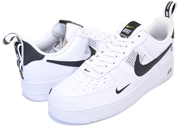 Among published by advantageous discount coupon! NIKE AIR FORCE 1 07 LV8 UTILITY whitewhite black tour yellow aj7747 100 sneakers AF1 ホワイトエレベイト