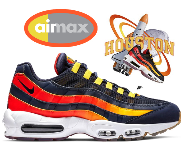 competitive price cheapest top fashion Among published by advantageous discount coupon! NIKE AIR MAX 95 HOUSTON  AWAY blackend blue/blackend blue av7939-400 sneakers NBA AWAY COLLECTION
