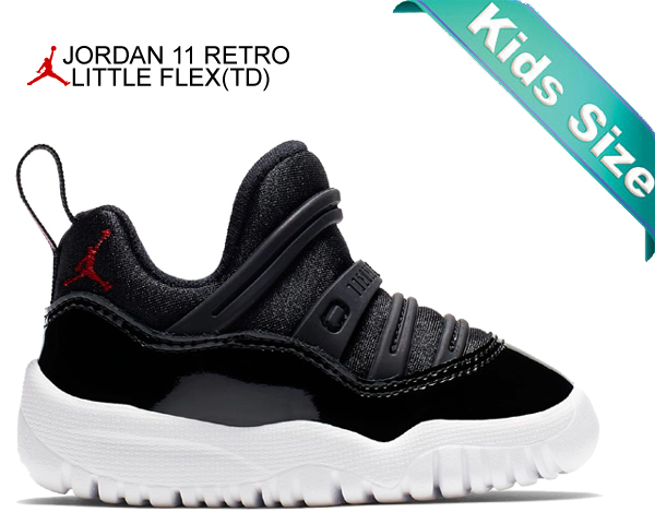 separation shoes d6cc7 3bf52 Among published by advantageous discount coupon! NIKE JORDAN 11 RETRO  LITTLE FLEX(TD) black/gym red-white bq7102-002 kids toddler slip-ons AJ XI  black ...