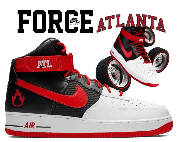 new product 21eac ce0a3 Among published by advantageous discount coupon! NIKE AIR FORCE 1 HIGH 07  LV8 ATLANTA white/university red-black bv7459-100 sneakers AF1 Atlanta city  ...