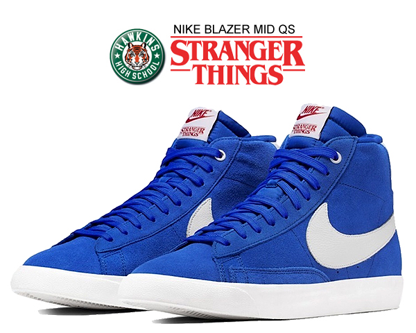 Among published by advantageous discount coupon! NIKE BLAZER MID QS STRANGER THINGS game royalwhite sail ck1906 400 sneakers blues Wade