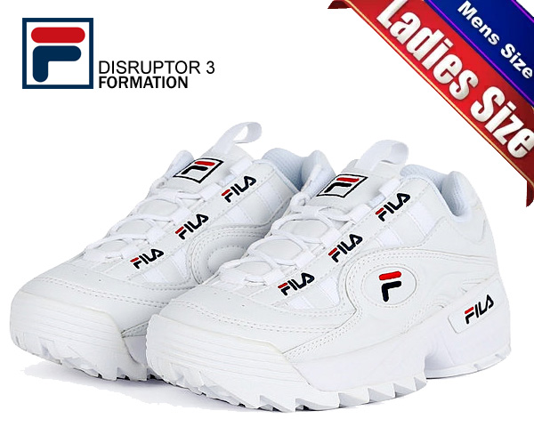 tania wyprzedaż wielka wyprzedaż gorące wyprzedaże Among published by advantageous discount coupon! FILA DISRUPTOR 3 FORMATION  WHITE FS1HTB1831X WWT sneakers thickness bottom white