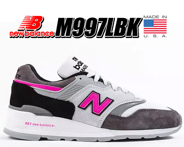 お得な割引クーポン発行中!!【あす楽 対応!!】【送料無料 ニューバランス 997】NEW BALANCE M997LBK MADE IN U.S.A. スニーカー NB 997 Dワイズ グレー ピンク Grey Pink