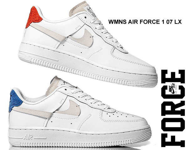 Among published by advantageous discount coupon! NIKE WMNS AIR FORCE 1 07 LX whiteplatinum tint game royal 898,889 103 sneakers AF1 Lux
