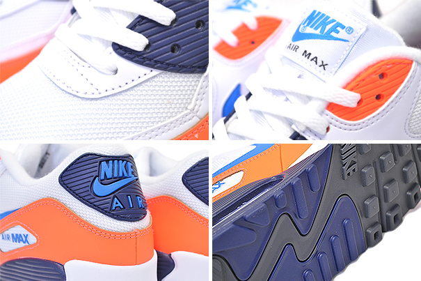 air max 90 white photo blue total orange