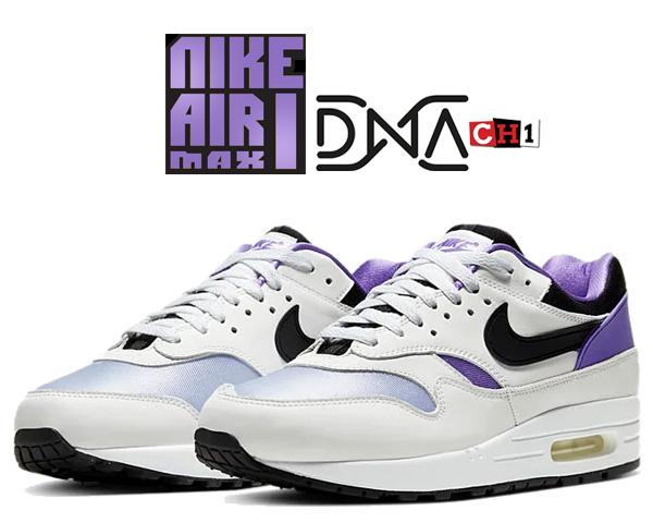 お得な割引クーポン発行中!!【送料無料 ナイキ エアマックス 1】NIKE AIR MAX 1 DNA CH.1 white/black-purple punch ar3863-101 AM1 スニーカー HUARACHE ハラチ パープルパンチ