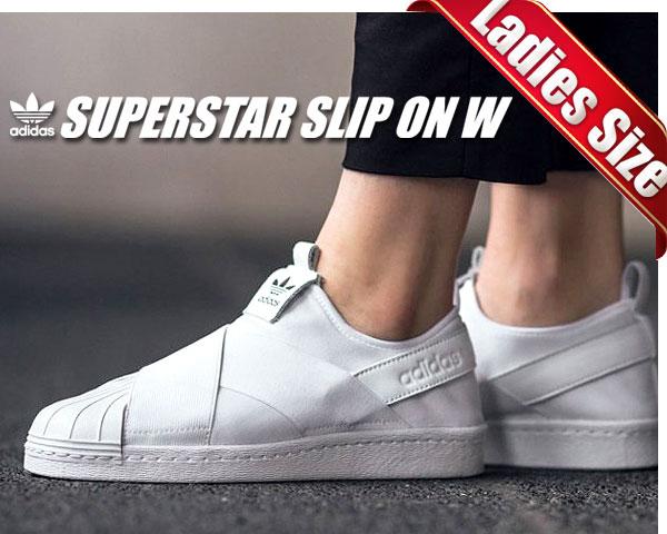 お得な割引クーポン発行中!!【あす楽 対応!!】【 アディダス スニーカー スーパースター レディースサイズ】adidas SUPERSTAR SLIP ON W ftwht/ftwht-cblack【スリッポン】