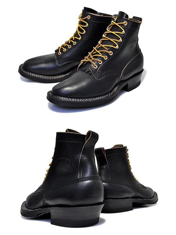 【ホワイツ ブーツ バウンティハンター】White's Boots Bounty Hunter 350W Black Horween Chromexcel 【BOOTS ブーツ メンズ ワークブーツ Horween 6インチ ブーツ プレーントゥ ブラック セミドレス フォルスタン ハンドソーンウェルテッド製法 ステッチダウン】